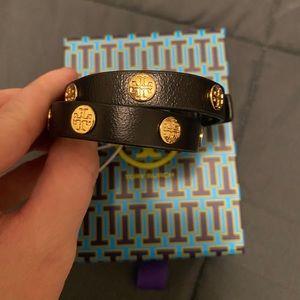 NWT Tory Burch Leather Double Wrap Bracelet